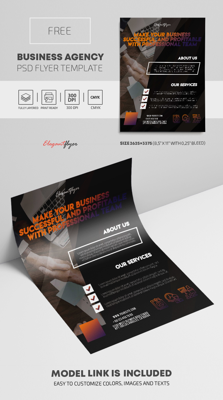 Business Agency – Free PSD Flyer Template