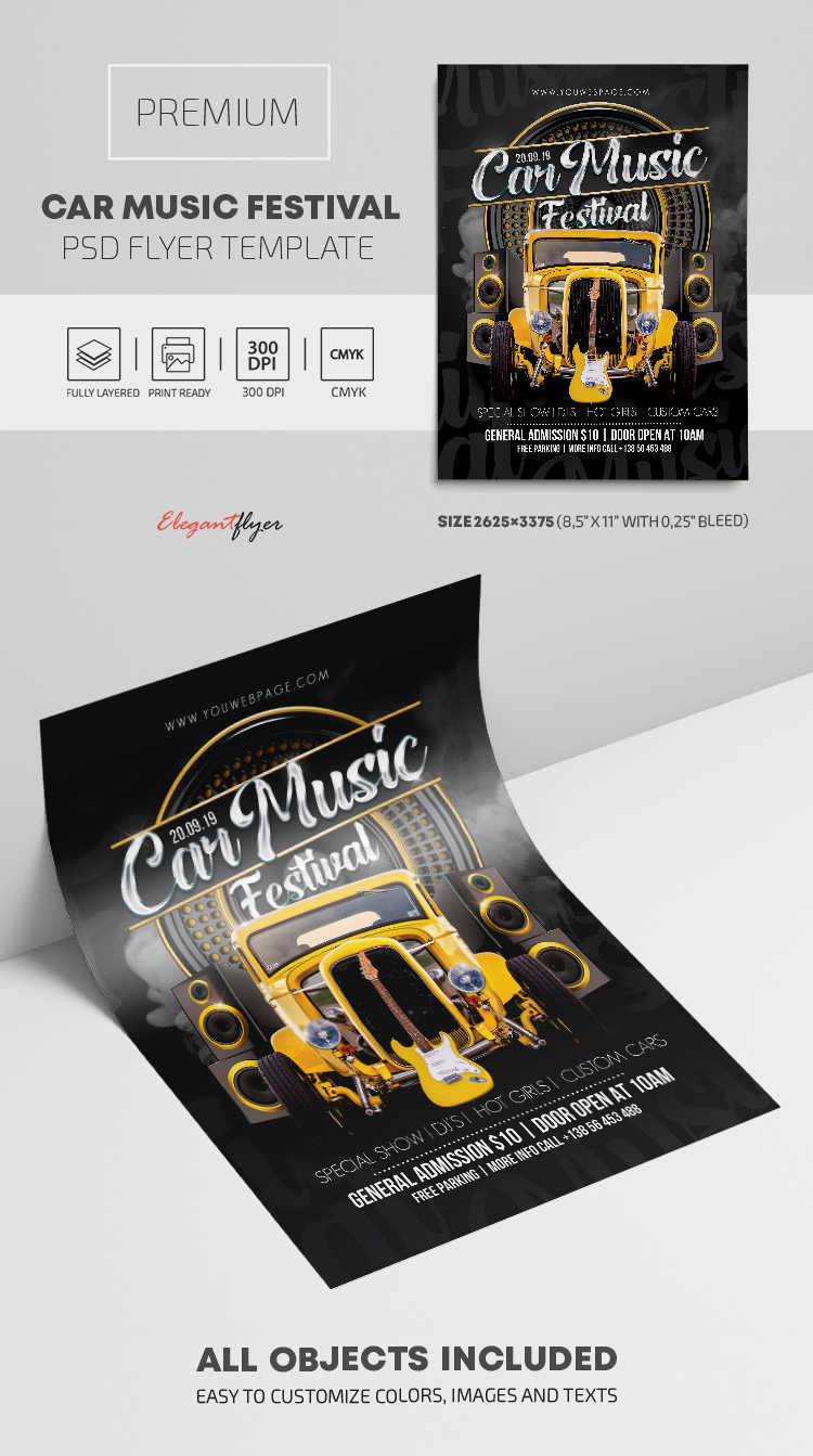 Car Music Festival – Premium PSD Flyer Template