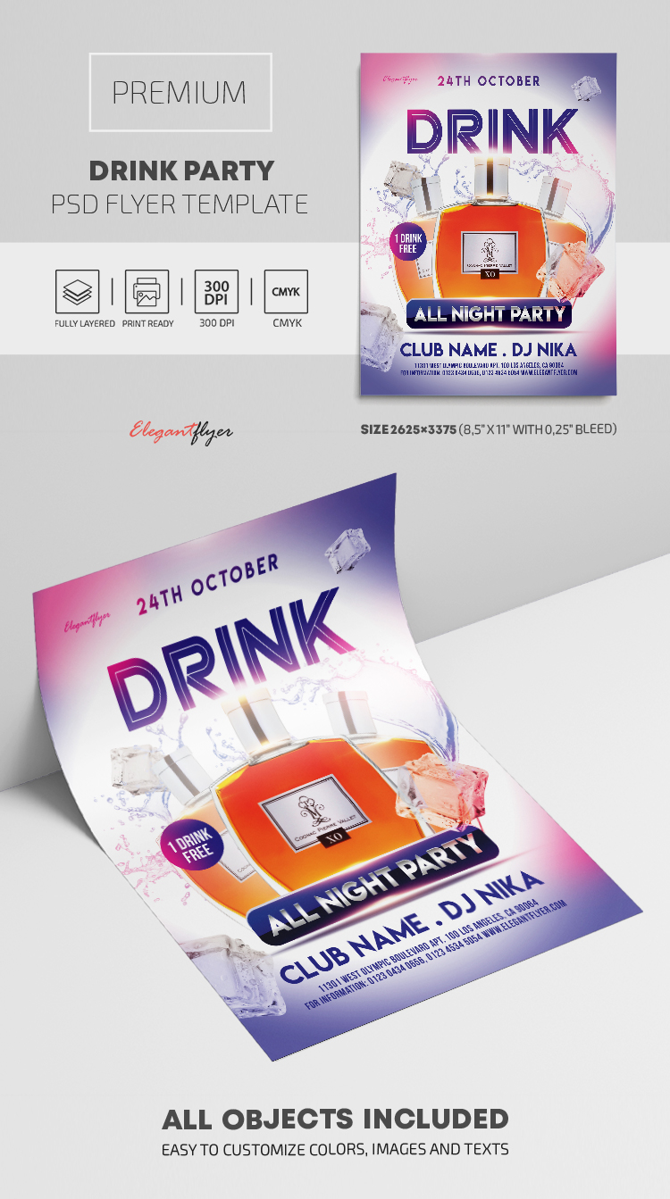 Drink Party – Premium PSD Flyer Template