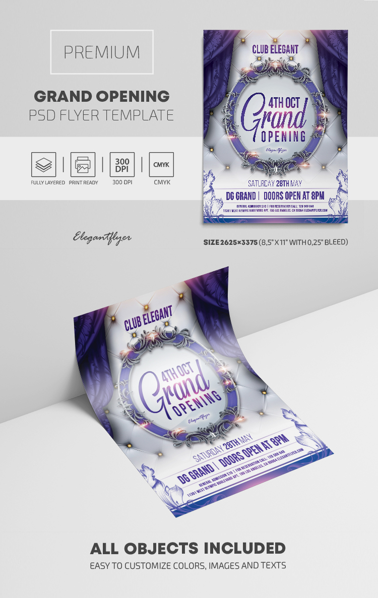 Grand Opening – Premium PSD Flyer Template