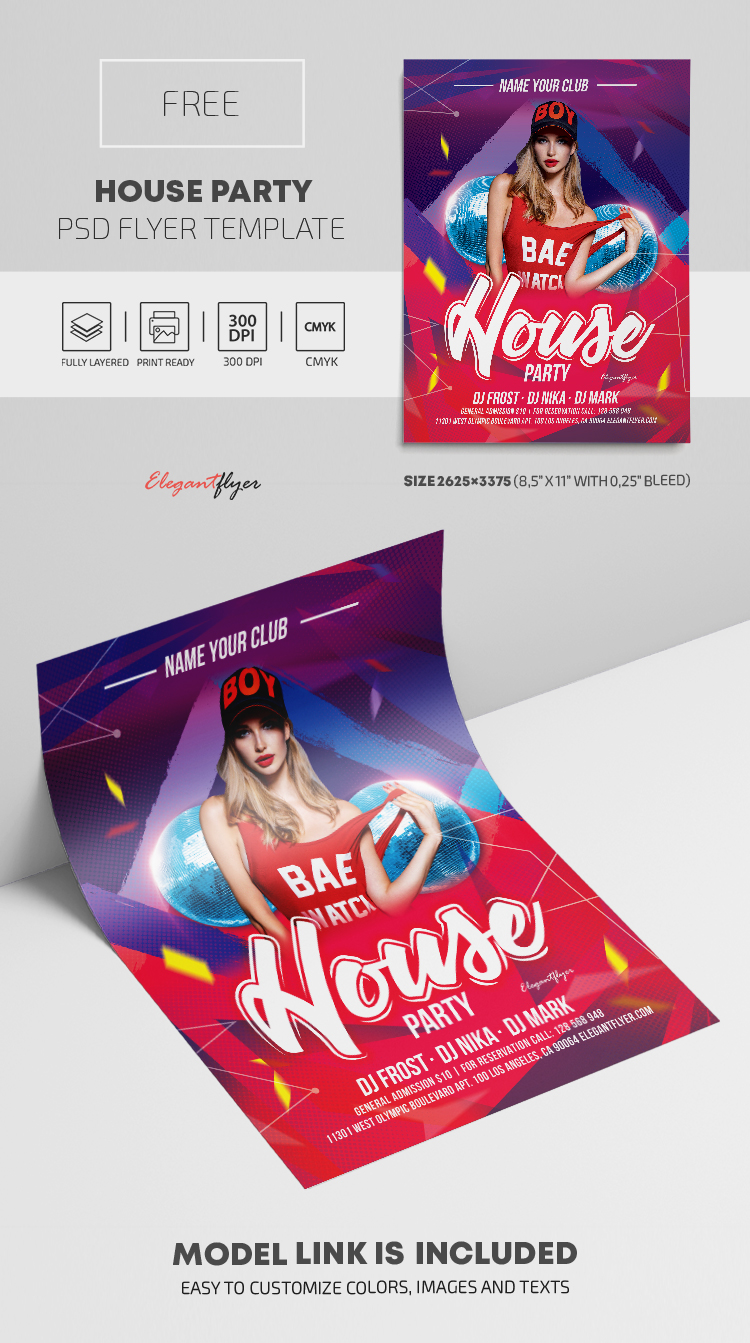 House Party – Free PSD Flyer Template