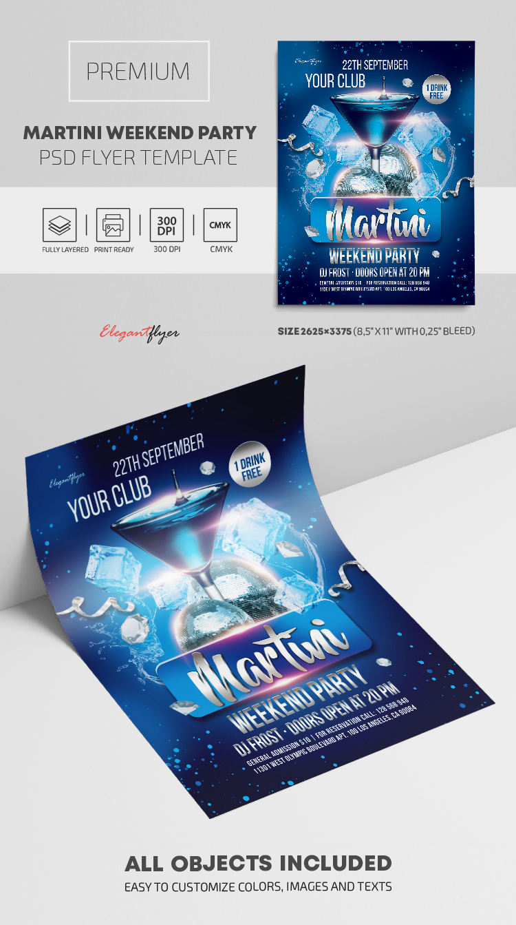 Martini Weekend Party – Premium PSD Flyer Template