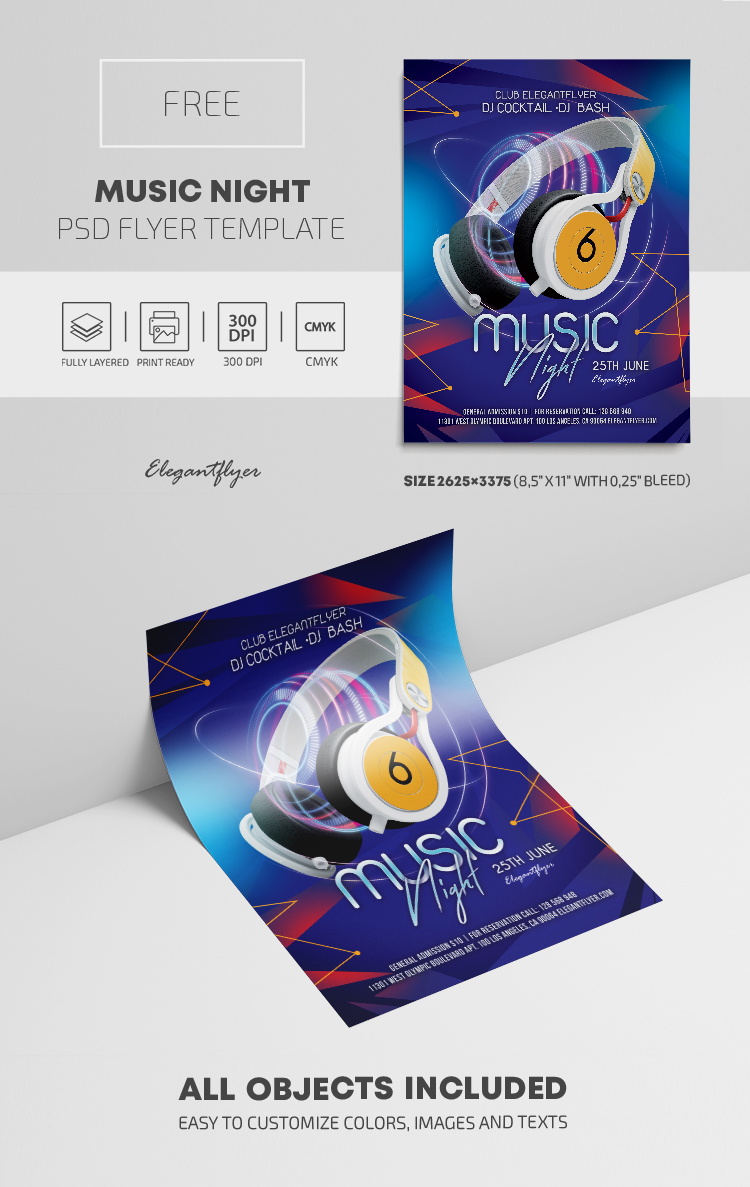 Music Night – Free PSD Flyer Template