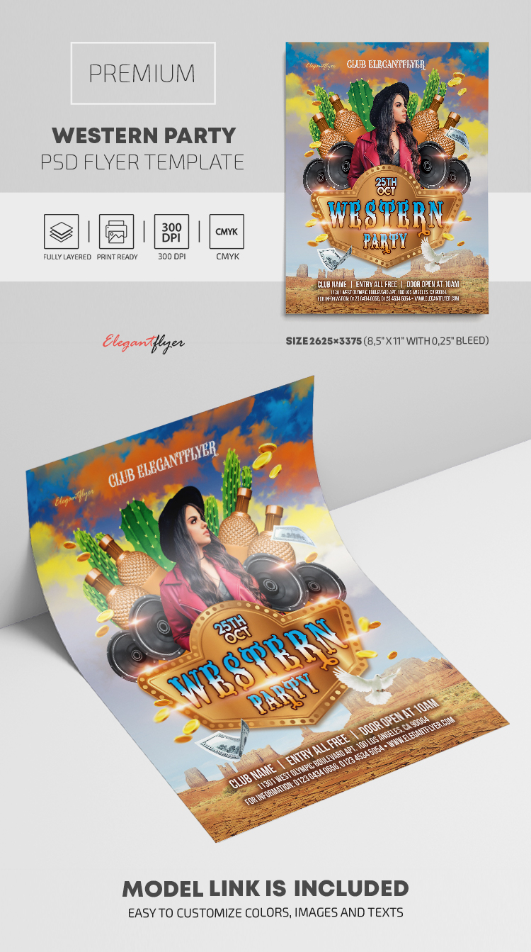 Western Party – Premium PSD Flyer Template