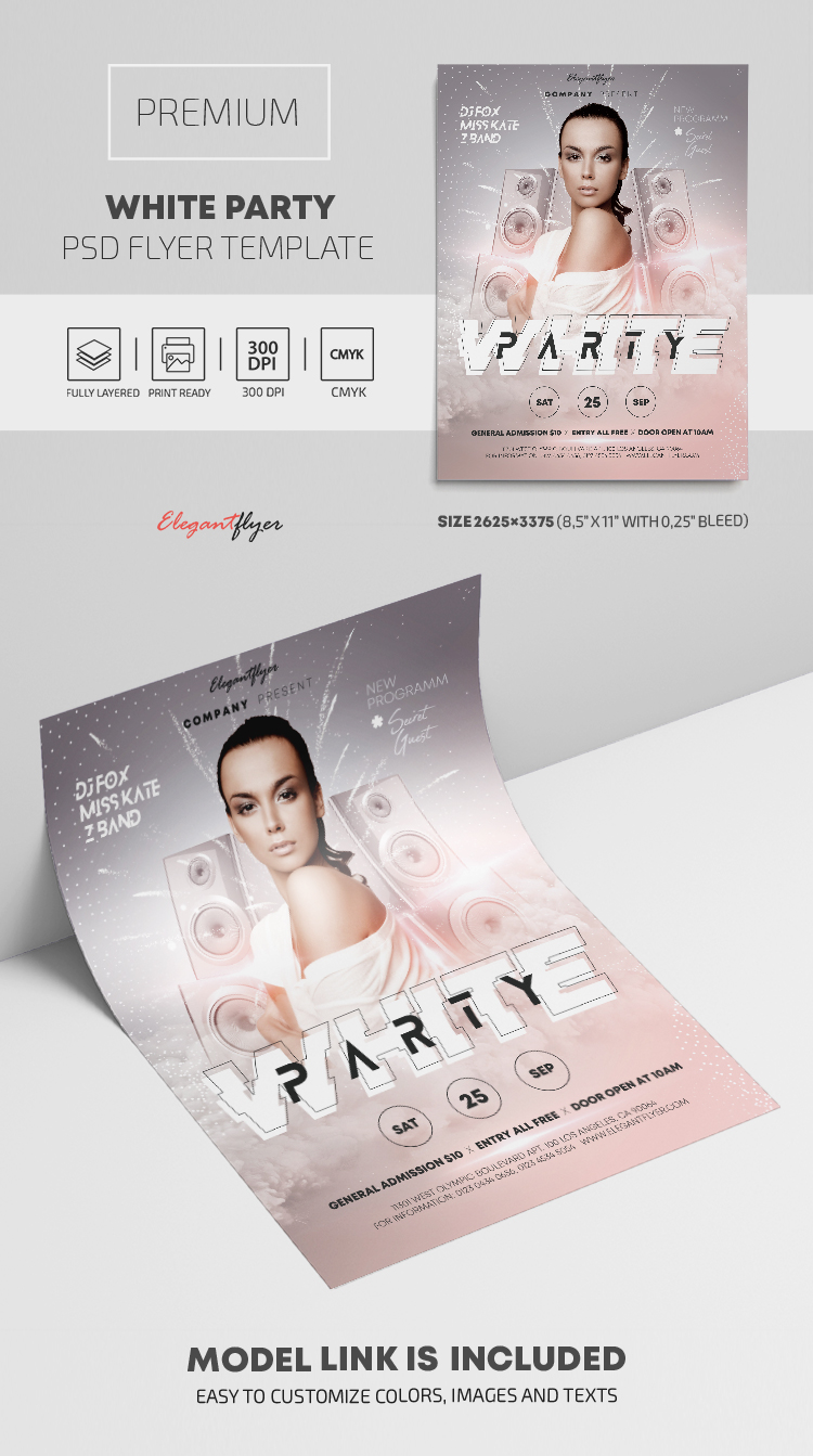 White Party – Premium PSD Flyer Template
