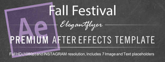 Fall Festival After Effects Template