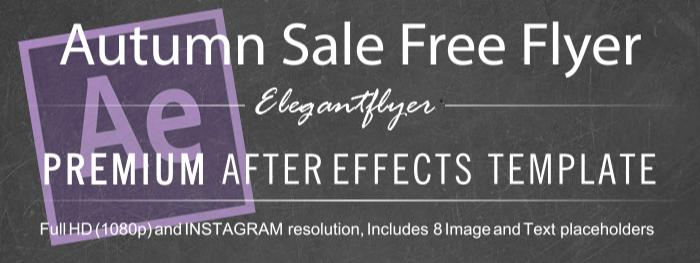 Autumn Sale Free Flyer After Effects Template