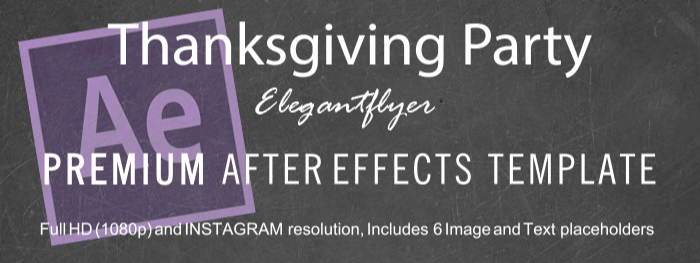 Thanksgiving Party After Effects Template