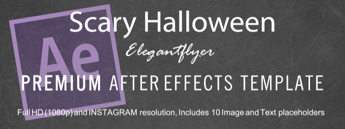 Scary Halloween After Effects Template