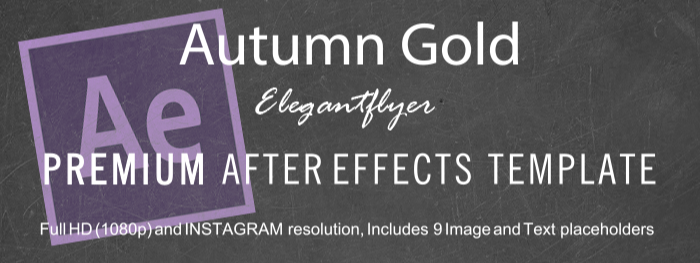 Autumn Gold After Effects Template