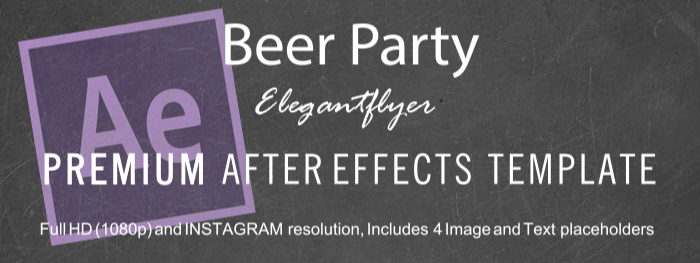 Beer Party After Effects Template