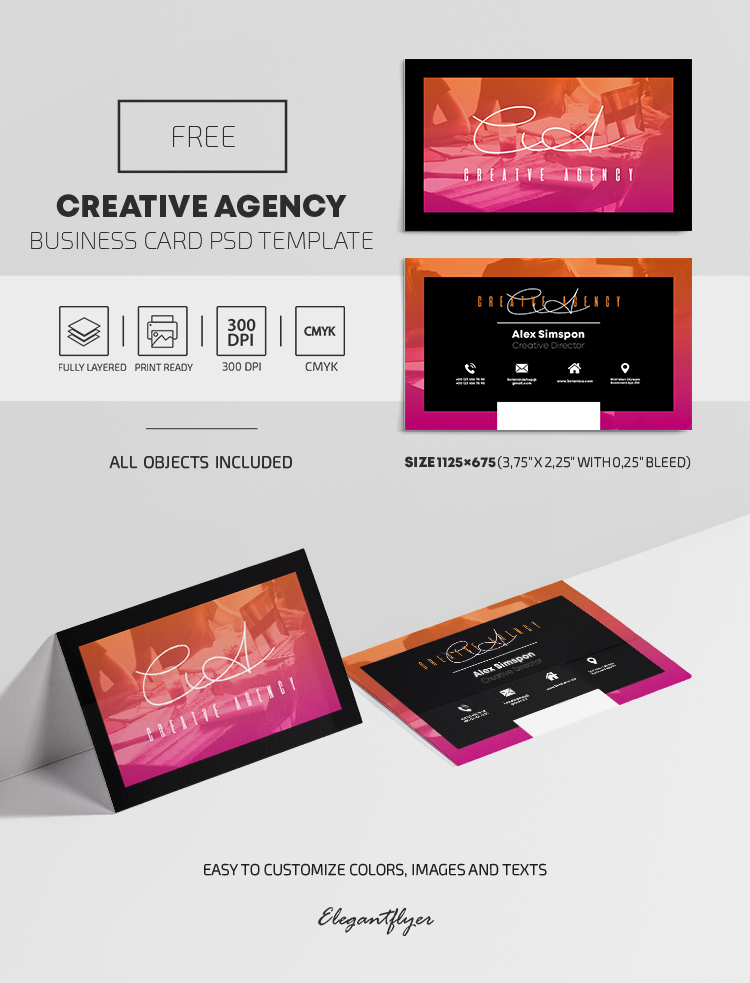 Creative Agency – Free PSD Business Card Template