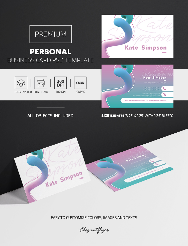 Personal – Premium PSD Business Card Template