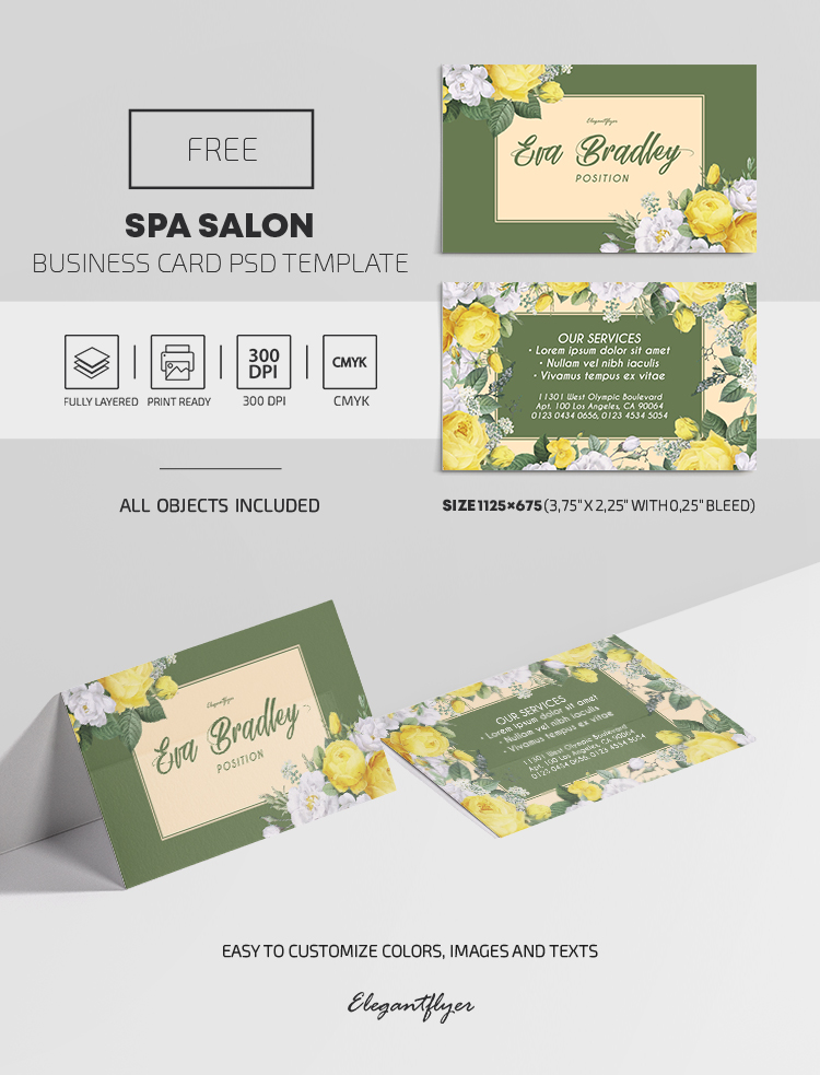 Spa Salon – Free PSD Business Card Template