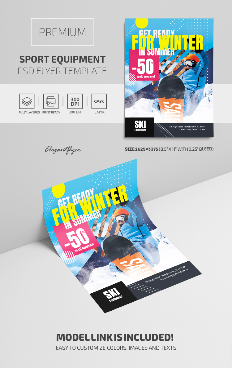 Sport Equipment – Premium PSD Flyer Template