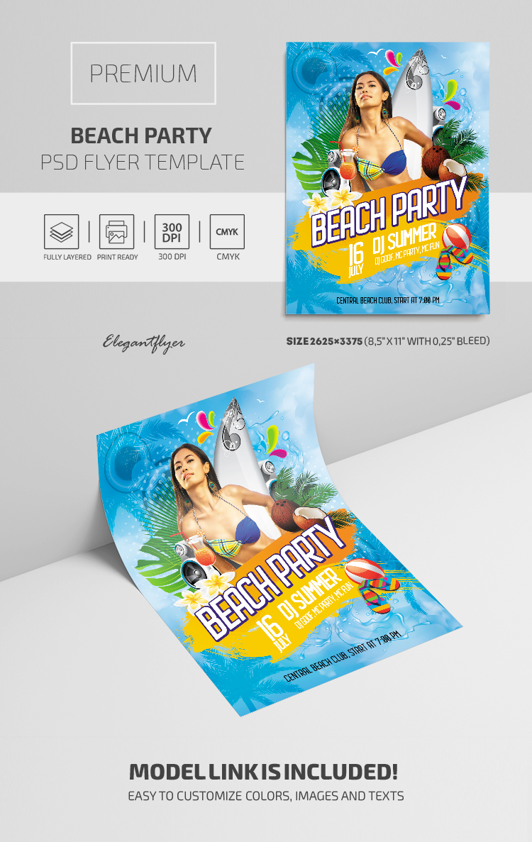 Beach Party – Premium PSD Flyer Template