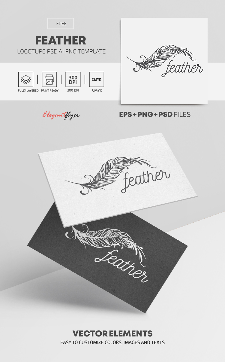 Feather – Free Logo Template