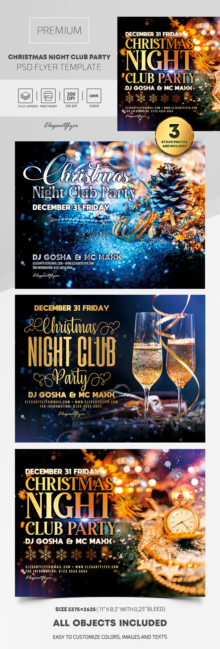 Christmas Night Club Party – Premium PSD Flyer Template