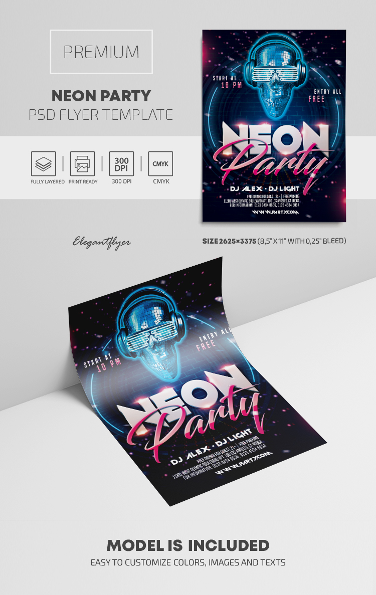 Neon Party – Premium PSD Flyer Template