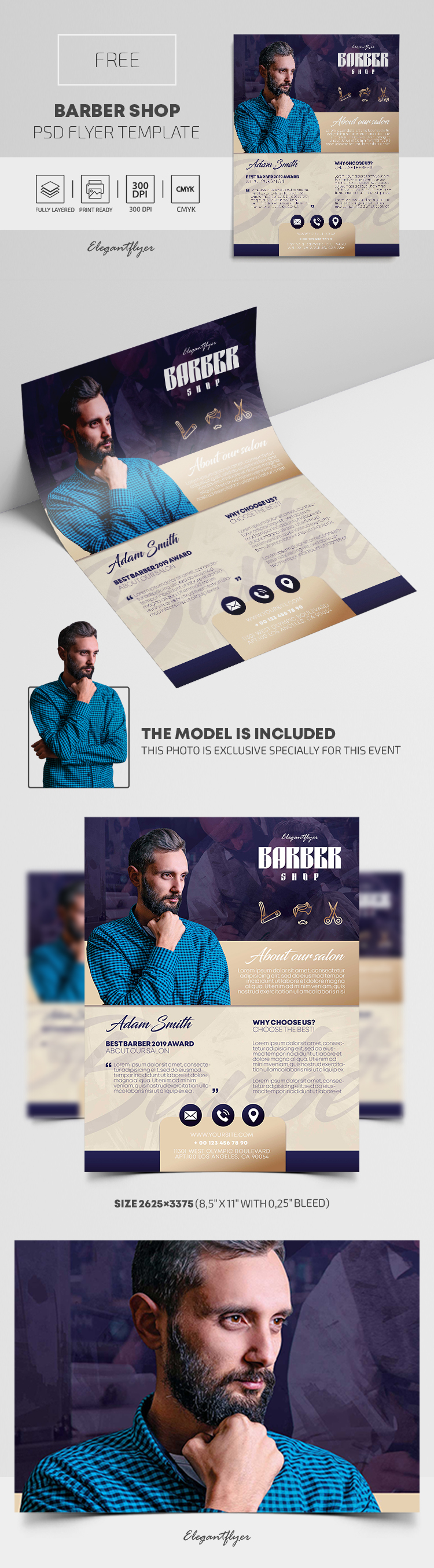 Barber Shop – Free PSD Flyer Template