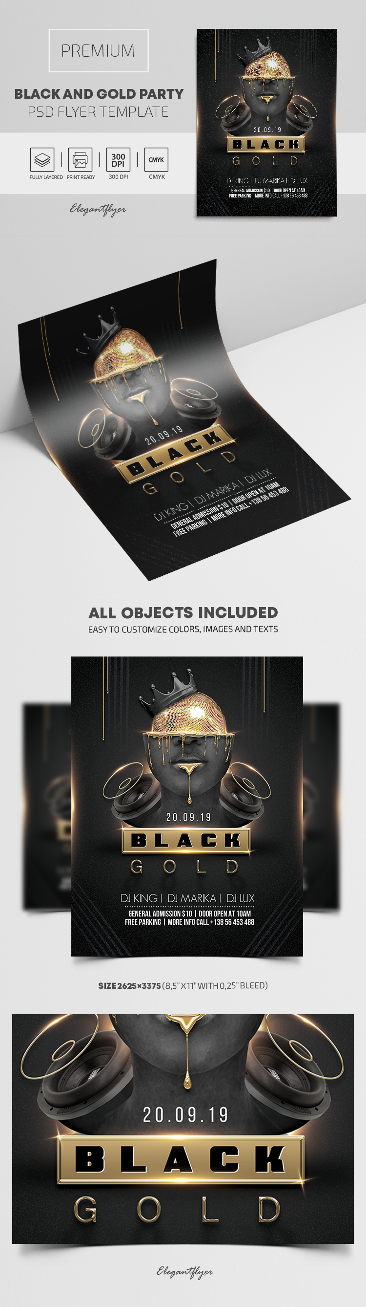 Black and Gold Party – Premium PSD Flyer Template
