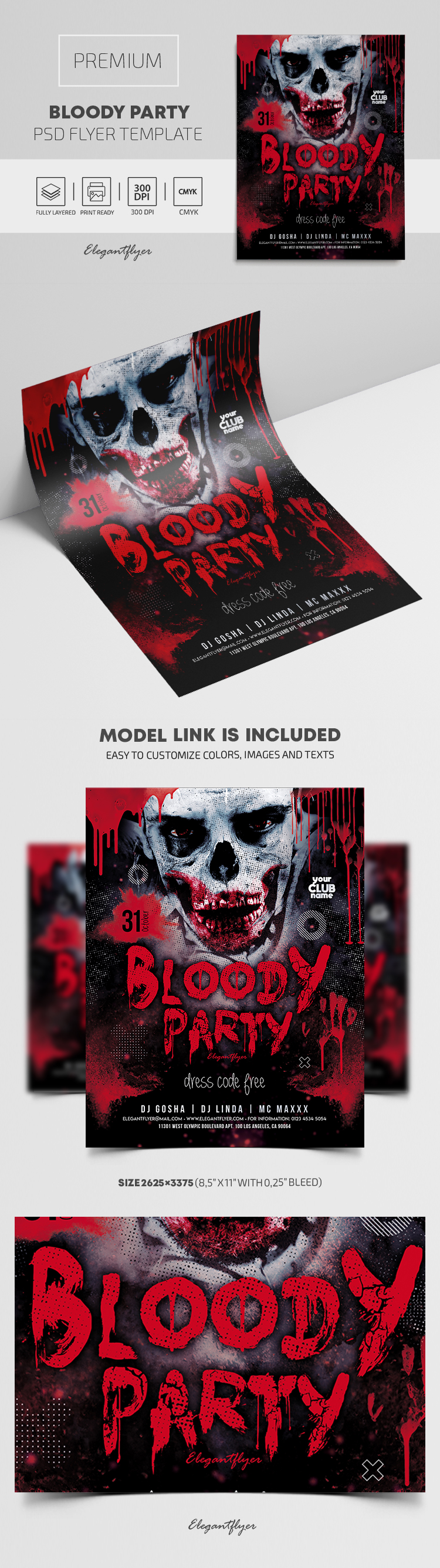 Bloody Party – Premium PSD Flyer Template