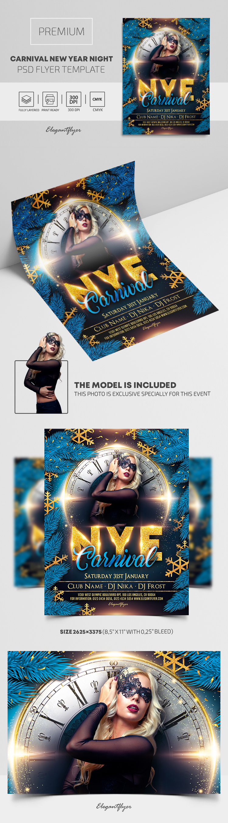 Carnival New Year Night – Premium PSD Flyer Template