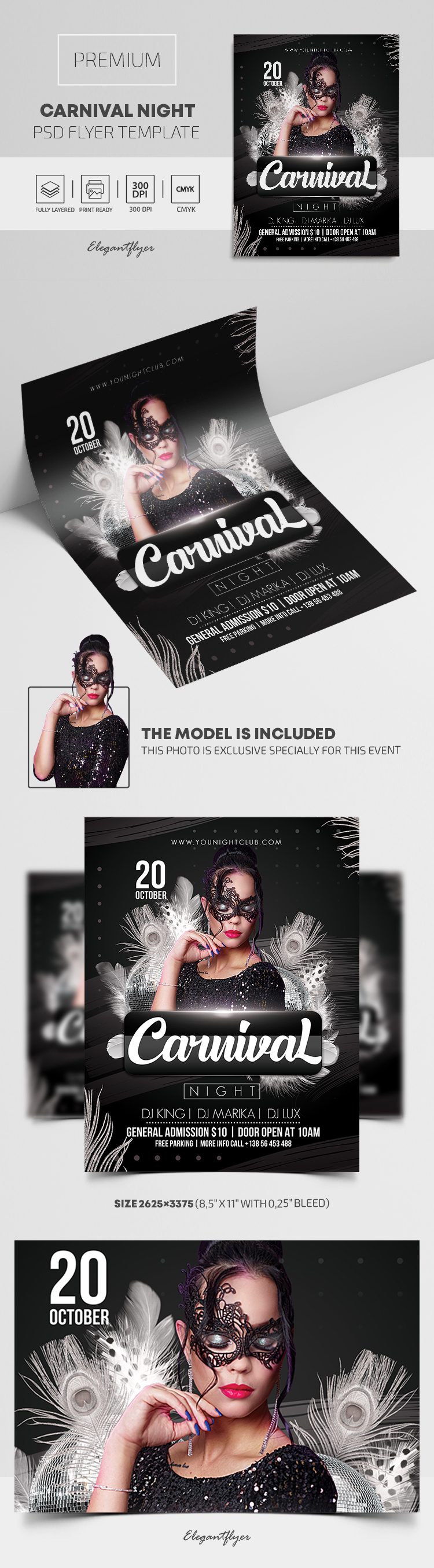 Carnival Night – Premium PSD Flyer Template