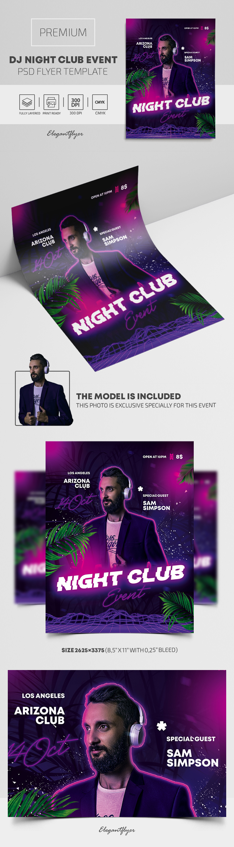 Dj Night Club Event – Premium PSD Flyer Template