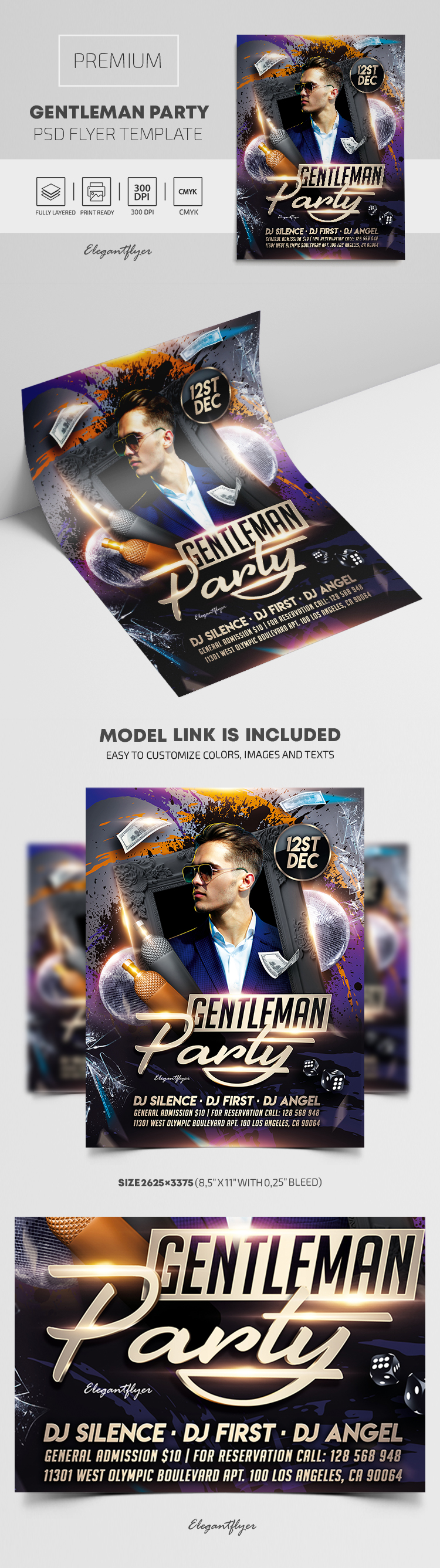 Gentleman Party – Premium PSD Flyer Template
