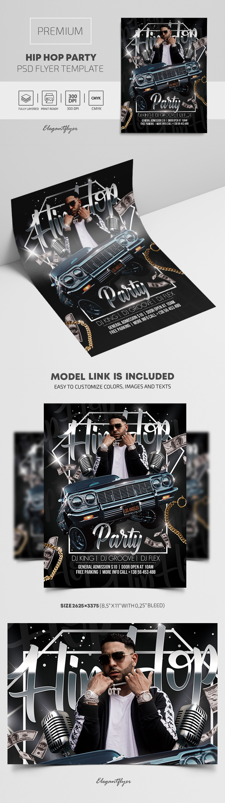Hip Hop Party – Premium PSD Flyer Template
