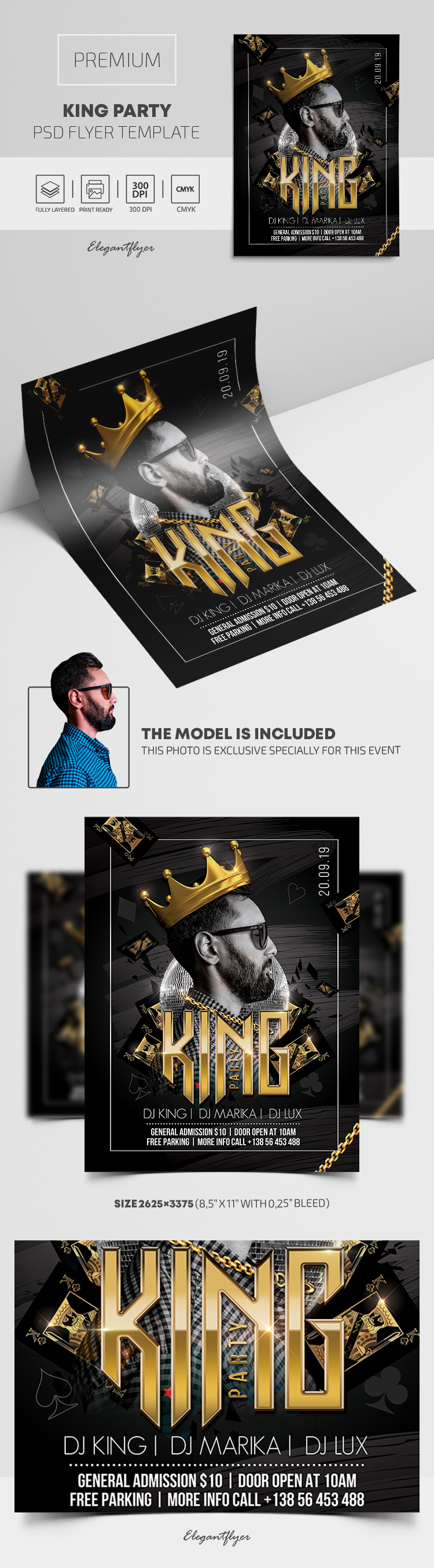 King Party – Premium PSD Flyer Template