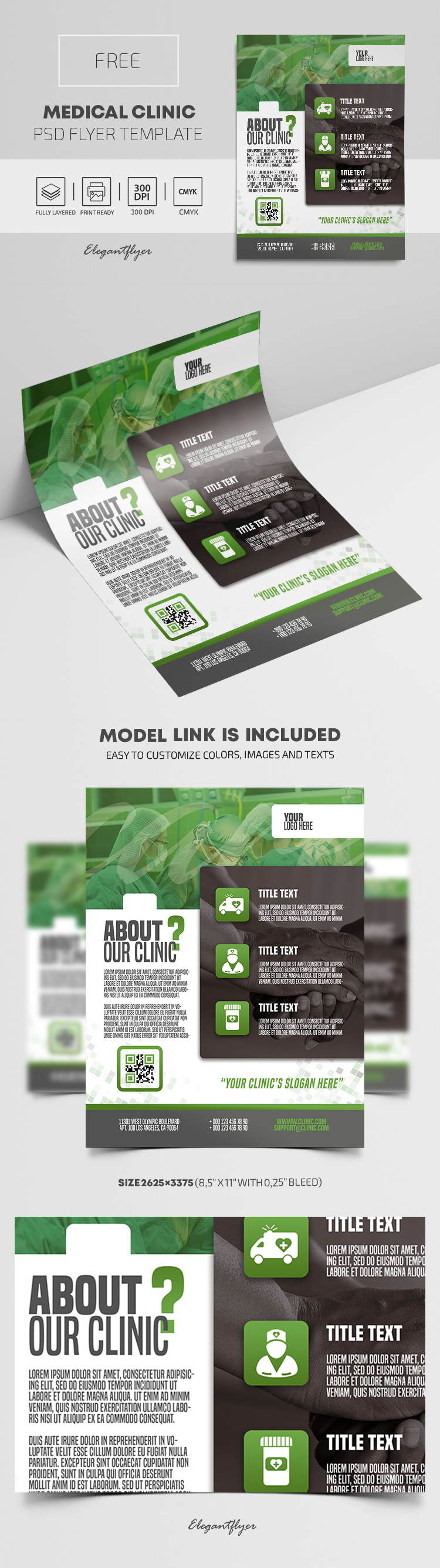 Medical Clinic – Free PSD Flyer Template