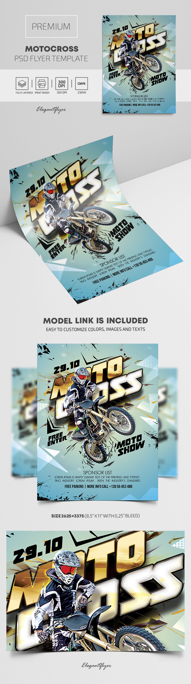 Motocross – Premium PSD Flyer Template