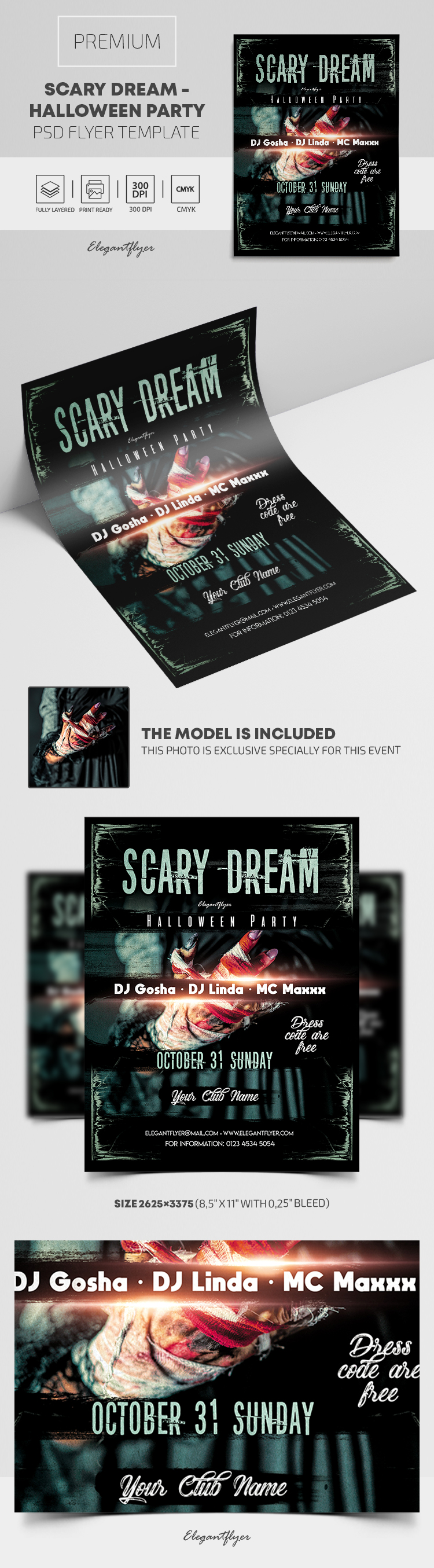 Scary Dream – Halloween Party – Premium PSD Flyer Template