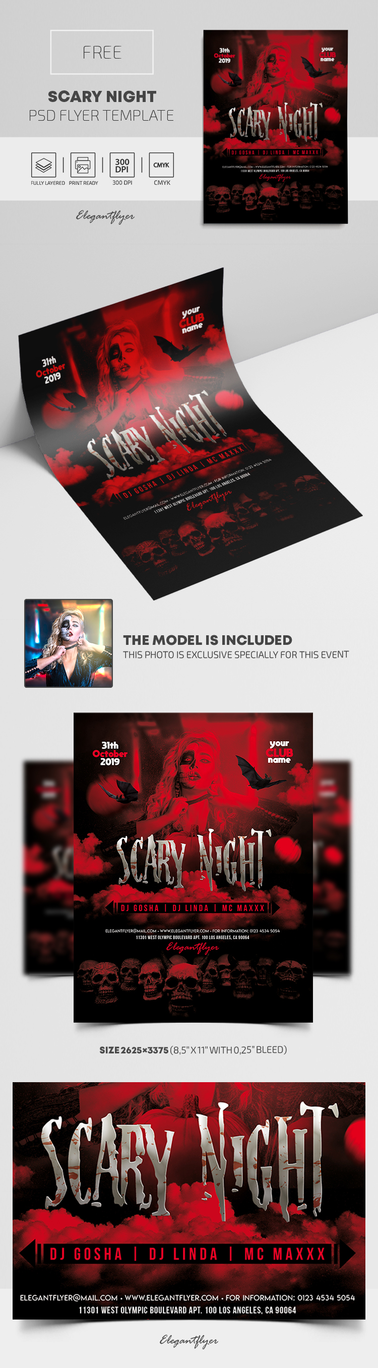 Scary Night – Free PSD Flyer Template