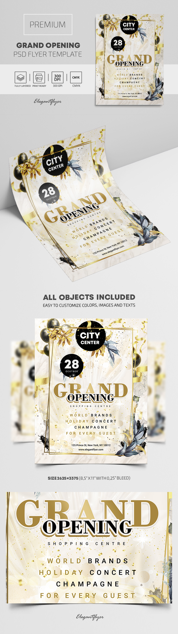 Shopping Centre. Grand Opening! – Premium PSD Flyer Template
