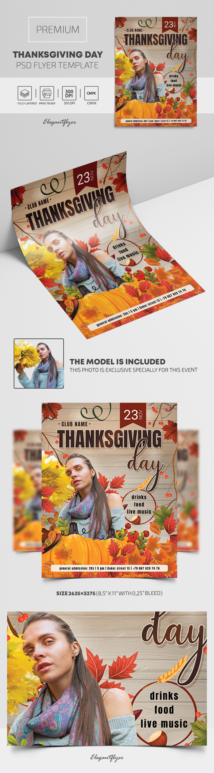 Thanksgiving Day – Premium PSD Flyer Template