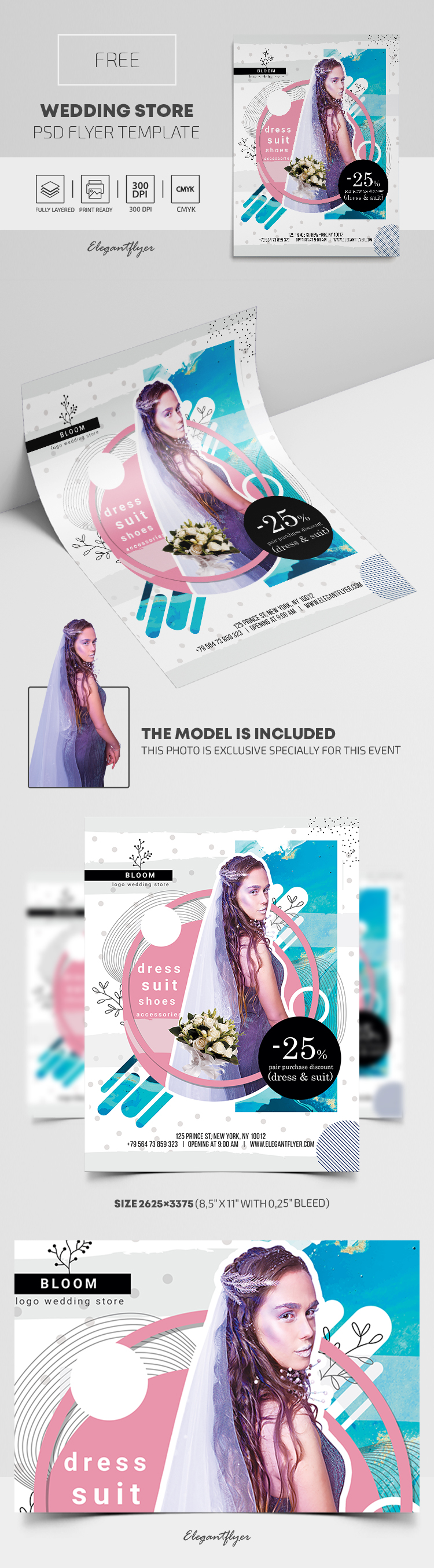 Wedding Store – Free PSD Flyer Template
