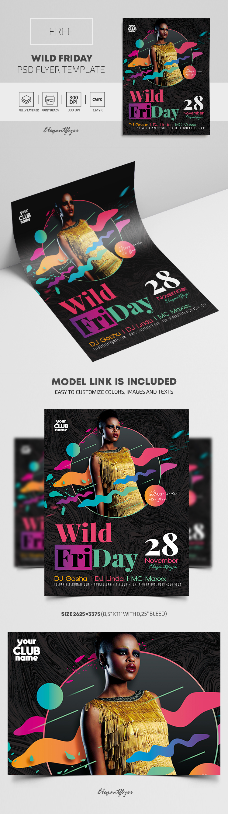 Wild Friday – Free PSD Flyer Template