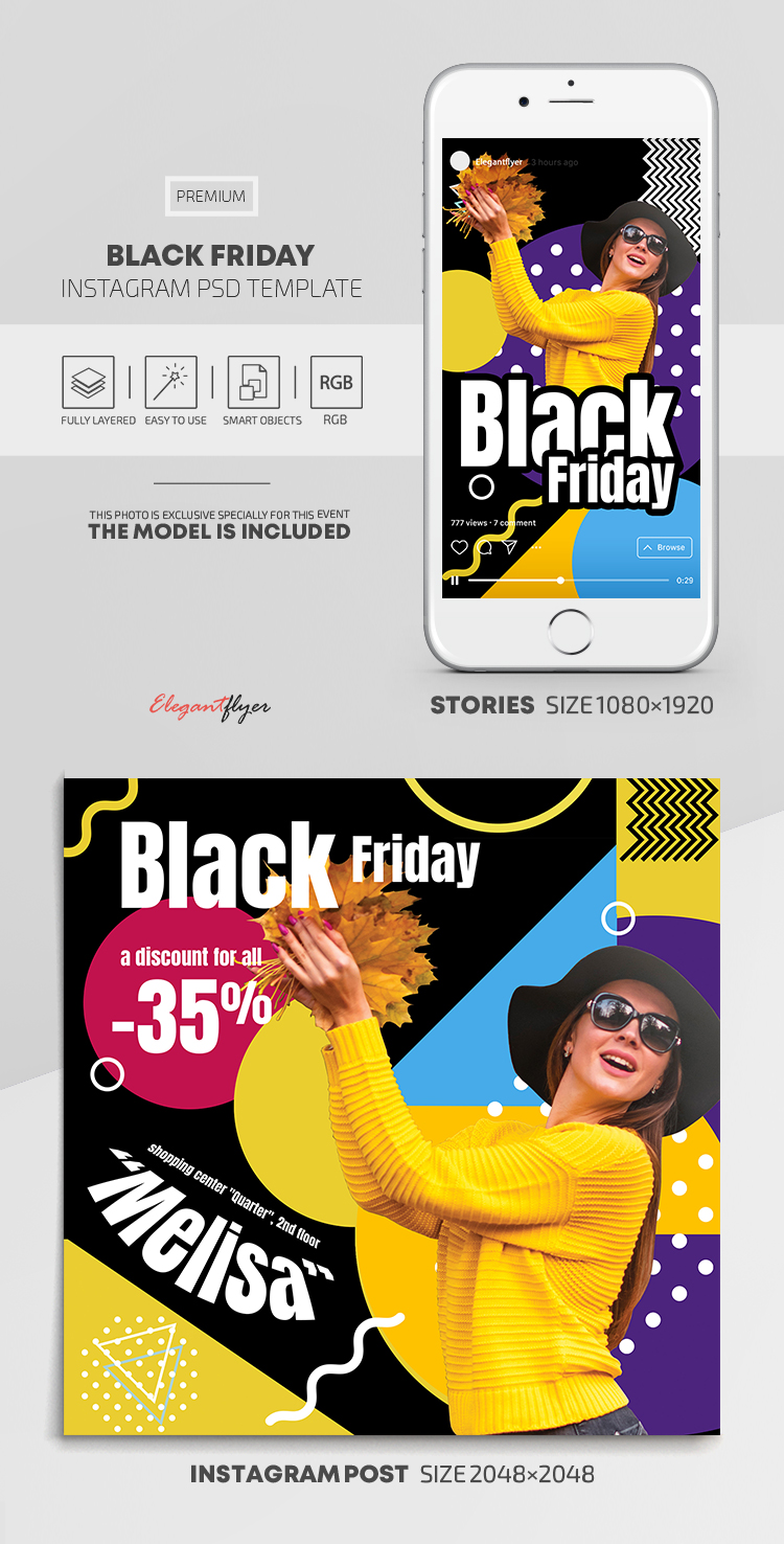 Black Friday – Instagram Stories Template in Premium PSD + Post Templates