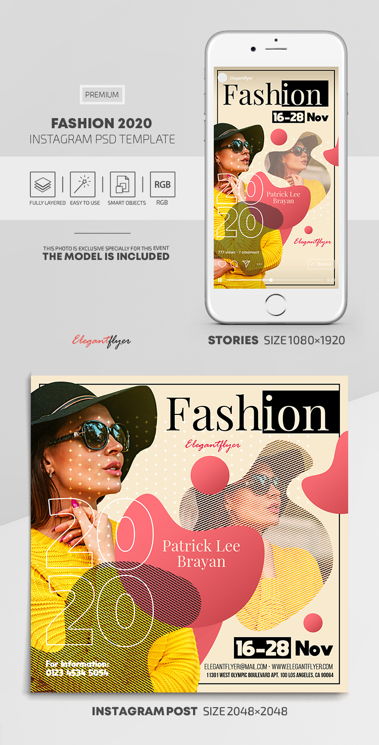 Fashion 2020 – Instagram Stories Template in PSD + Post Templates