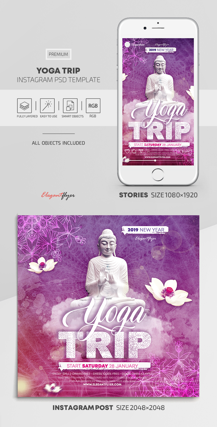 Yoga Trip – Instagram Stories Template in PSD + Post Templates