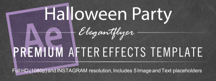 Halloween Party After Effects Template