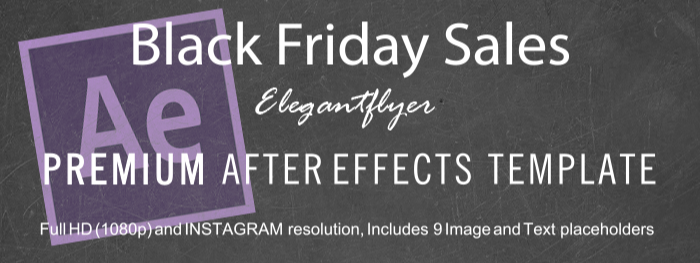 Black Friday Sales After Effects Template
