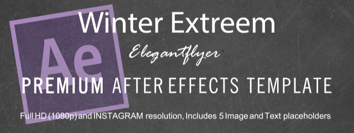 Winter Extreem After Effects Template