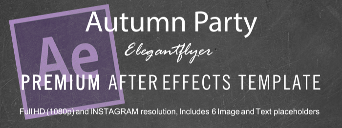 Autumn Party After Effects Template