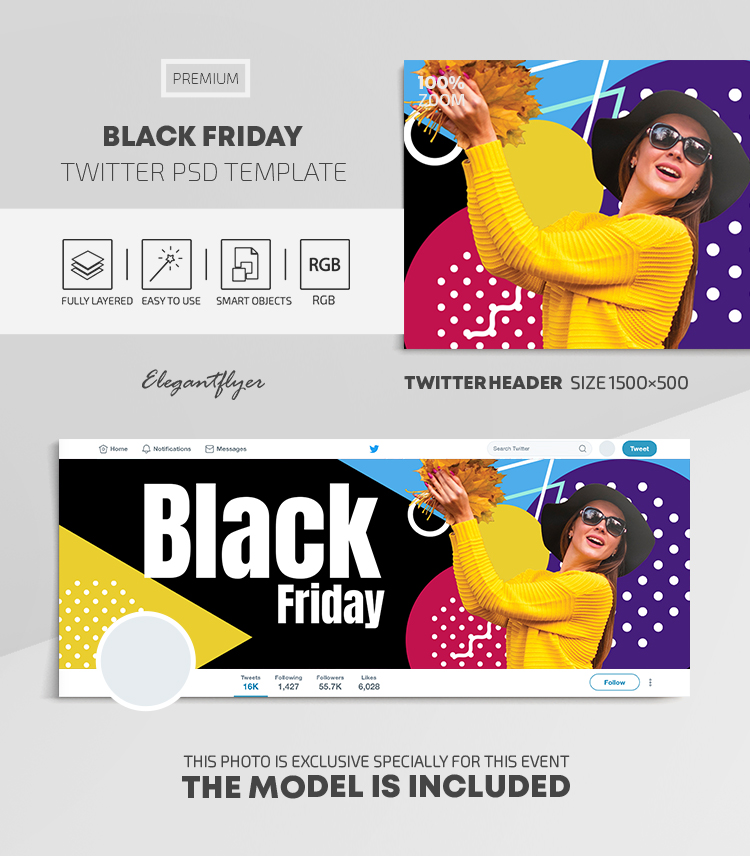 Black Friday – Twitter Header Premium PSD Template