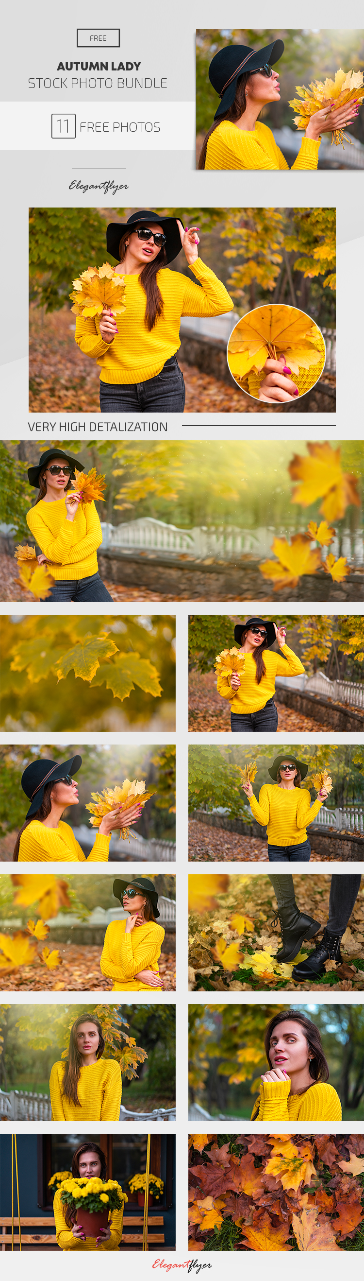 10+ Free Autumn Lady Stock Photos Bundle
