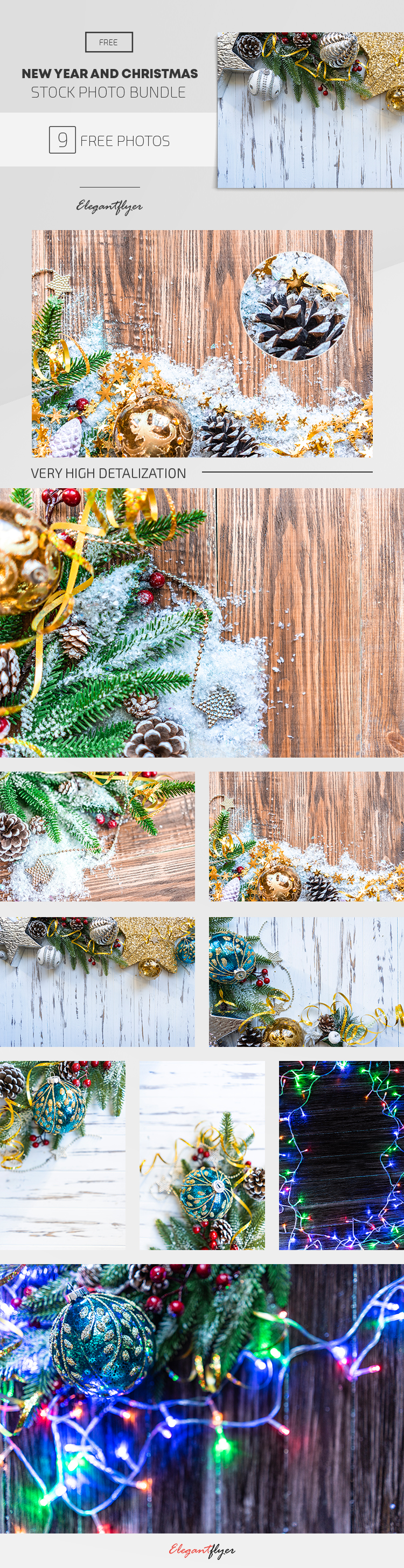 New Year and Christmas – 9 Free Stock Photos Bundle